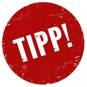 Icon-Unser Tipp! Stempel rot